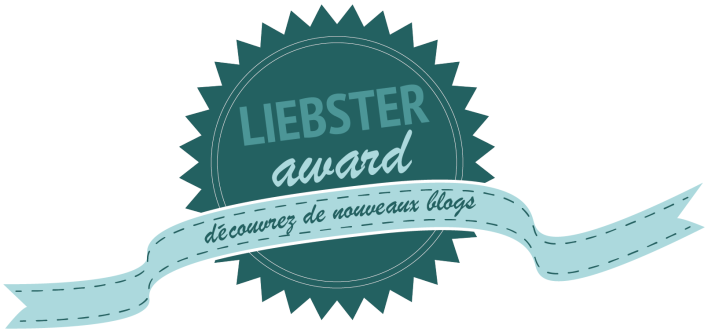 Ma nomination au Liebster Award 2016