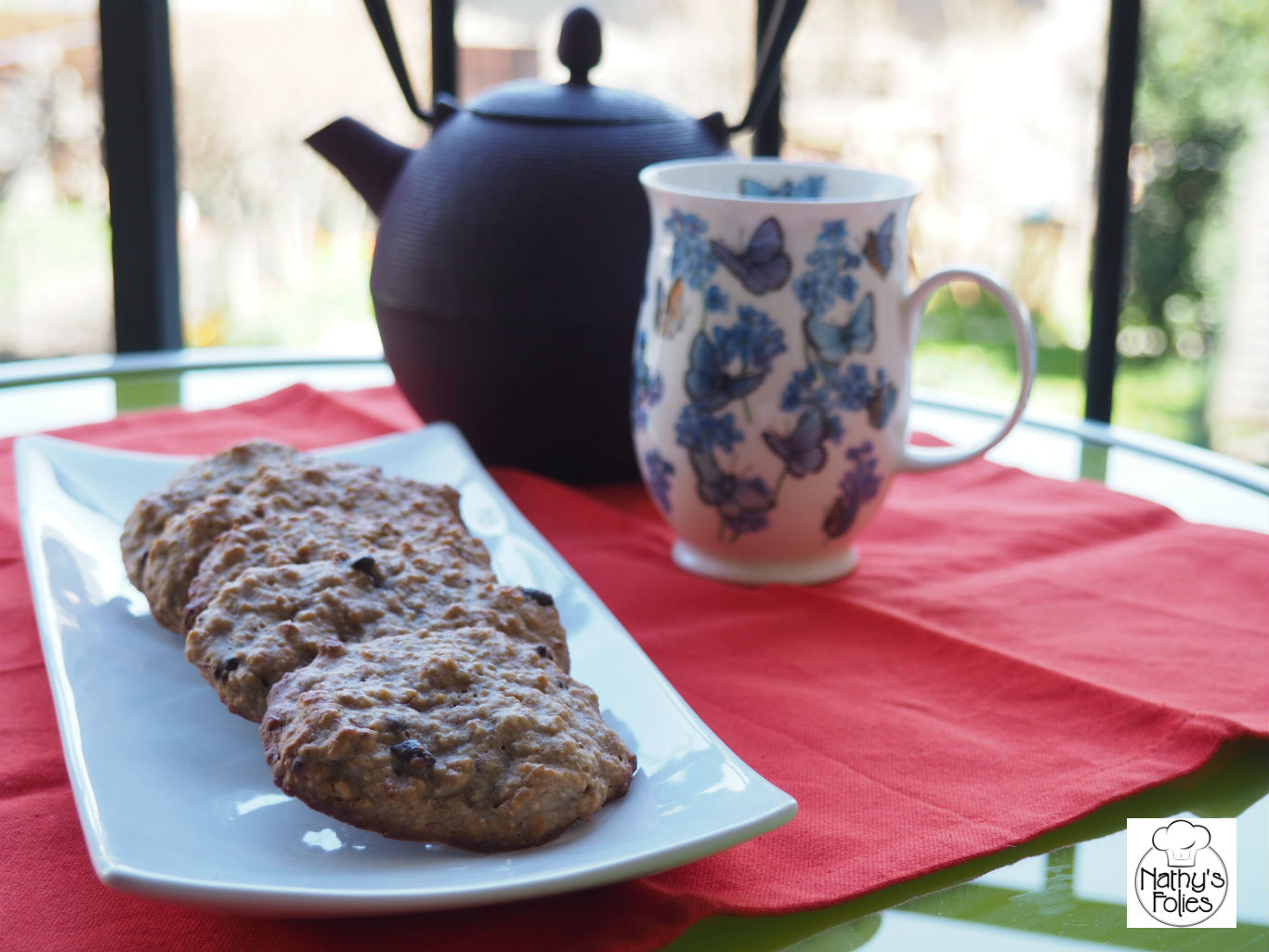 Biscuits à l'épeautre, banane & chocolat