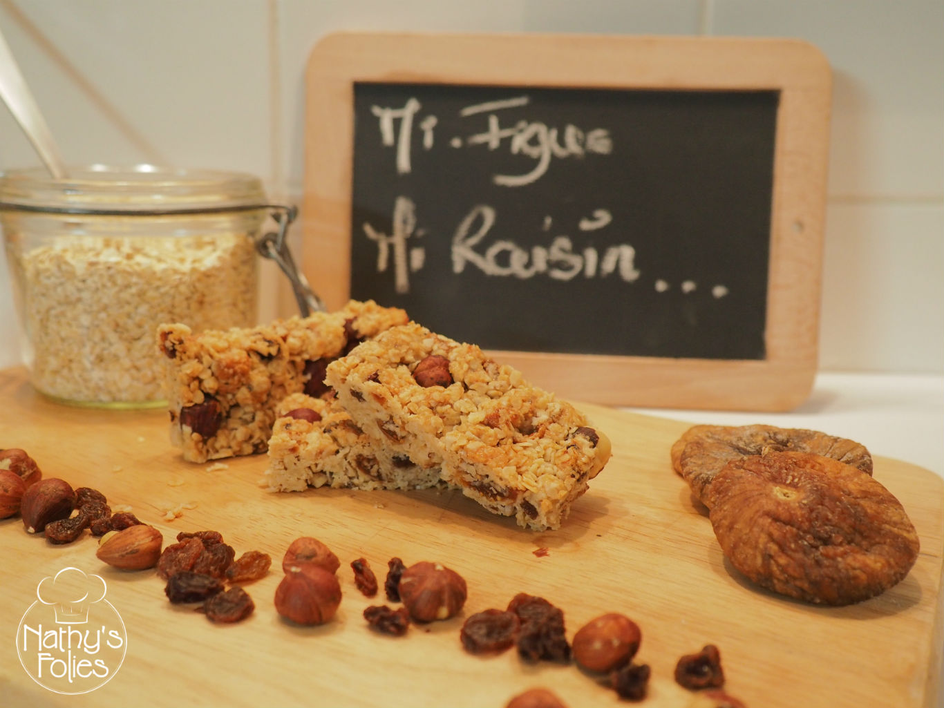 Barres de céréales mi-figue mi-raisin #Régalades en cascade n°6