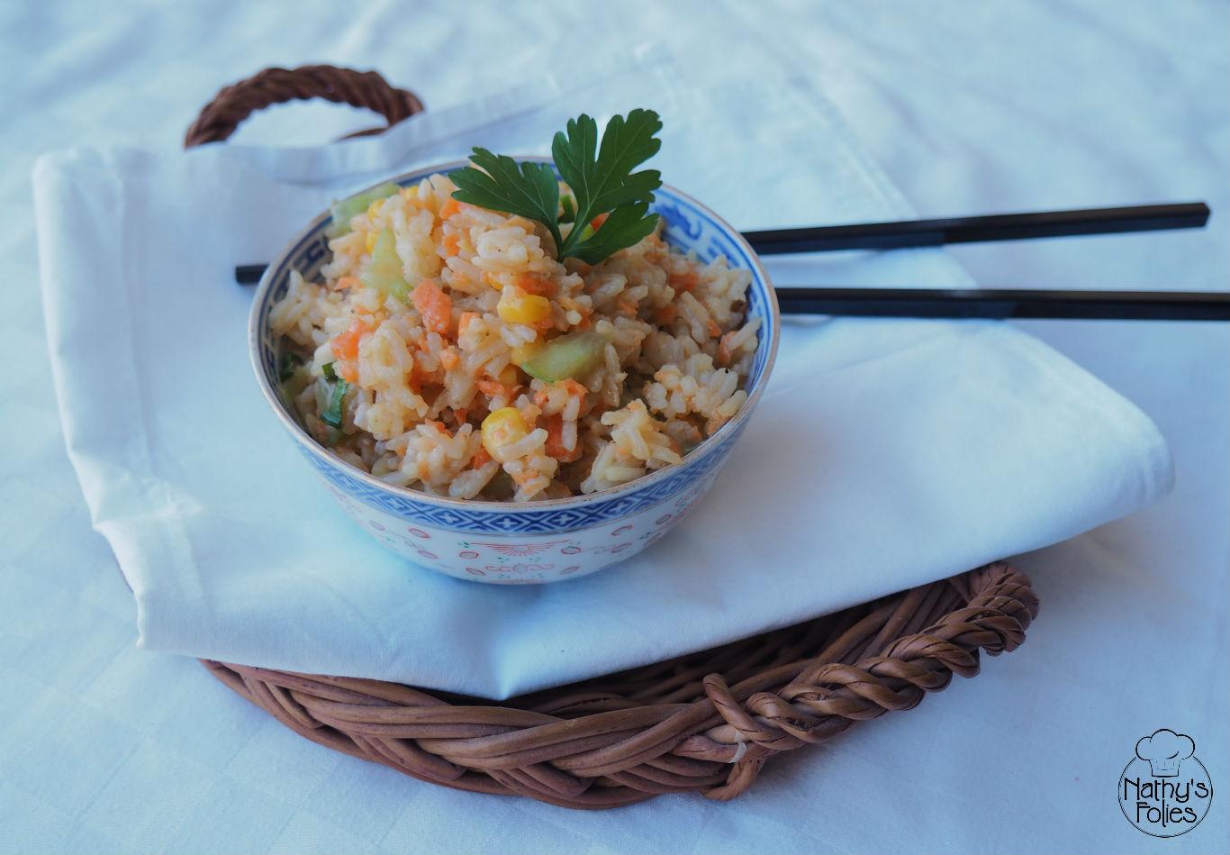 Salade de riz à la chinoise façon Nathy